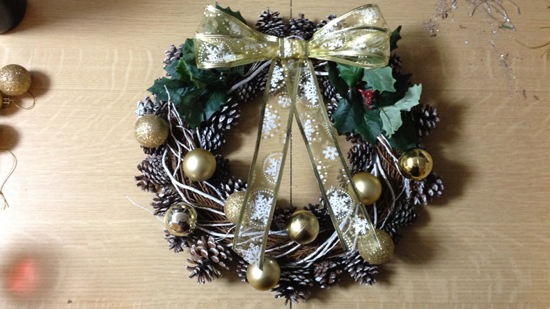wreath step 4 and 5