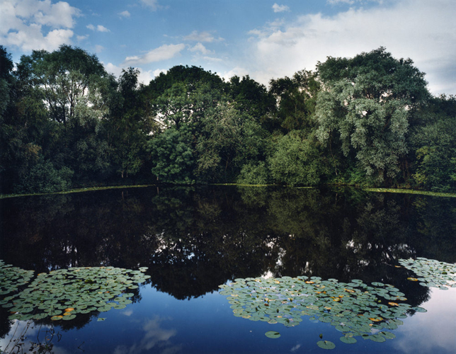 "Tomoko Yoneda ""Pond-Pond created by WWI mine explosion, Messines Ridge, Belgium"", 2002 © the artist Courtesy of ShugoArts"