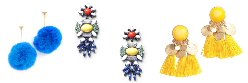 over the top earrings