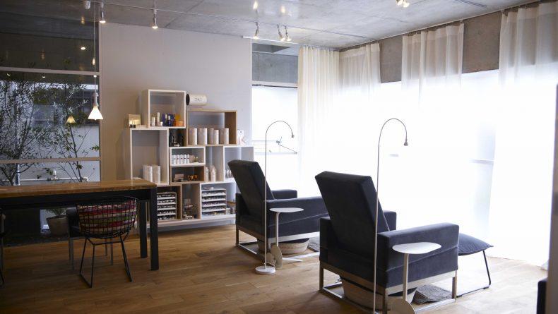 uka Omotesando beauty salon interior
