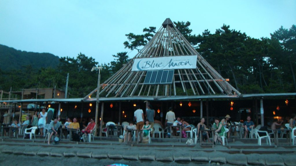 The Blue Moon bar at Isshiki Beach