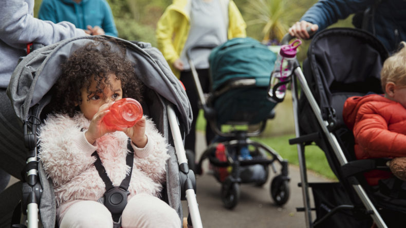 Five Places to Make Mom Friends in Japan - Babies in stroller with moms in the background