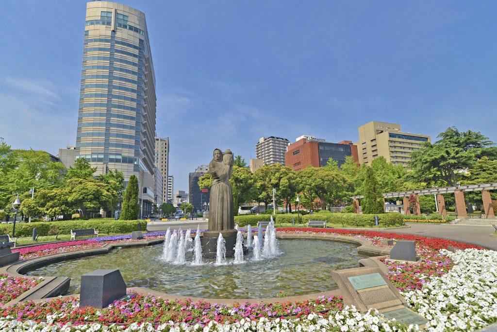 Yamashita Park of Yokohama city in Japan