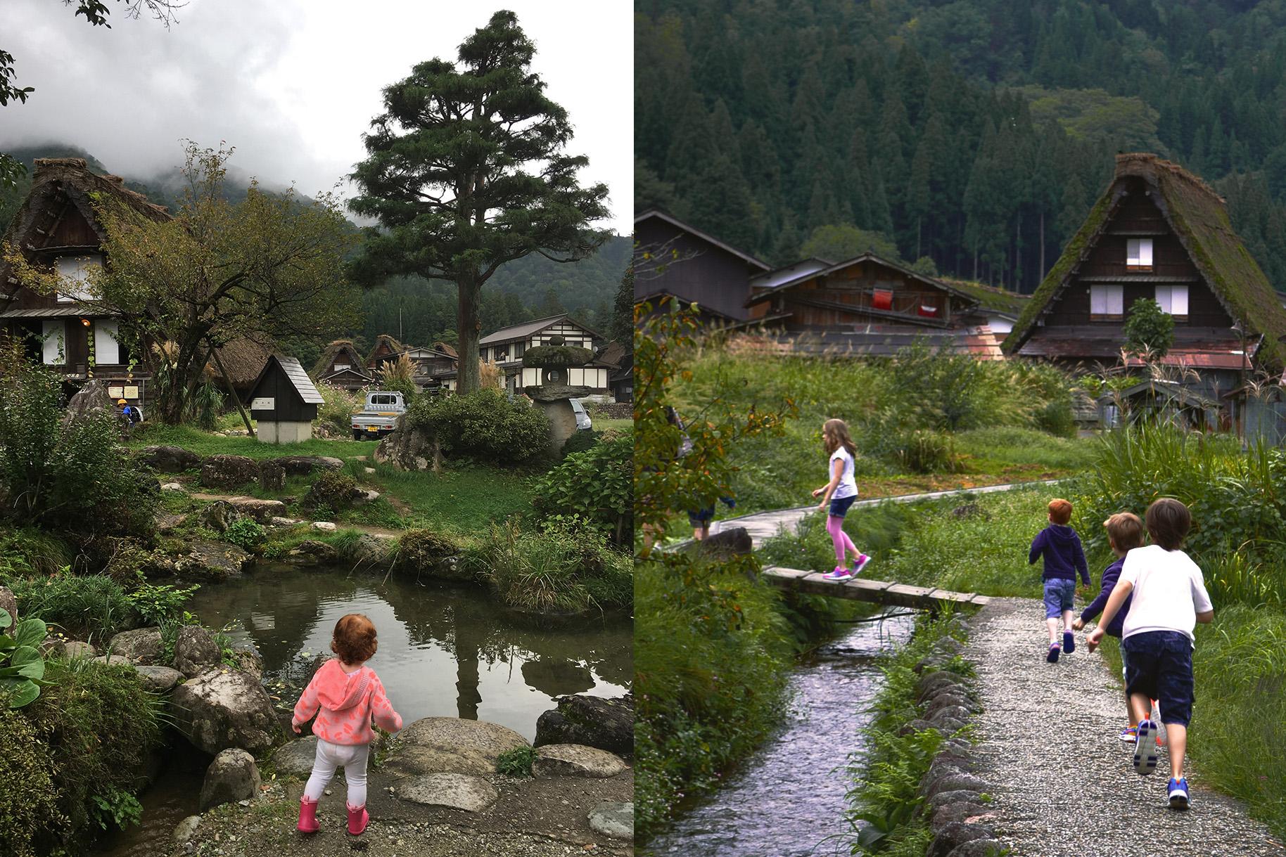 Fun and play in Ogimachi Village, Gifu Prefecture