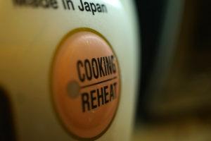 3 Original Vegetarian Rice Cooker Recipes Rice Cooker button