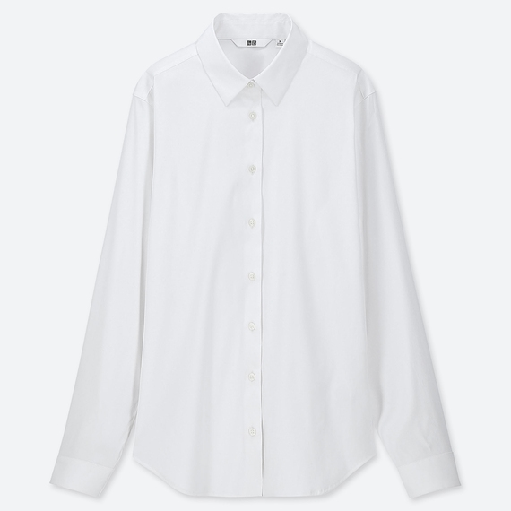 Uniqlo's Supima White Shirt, ¥2,990+tax