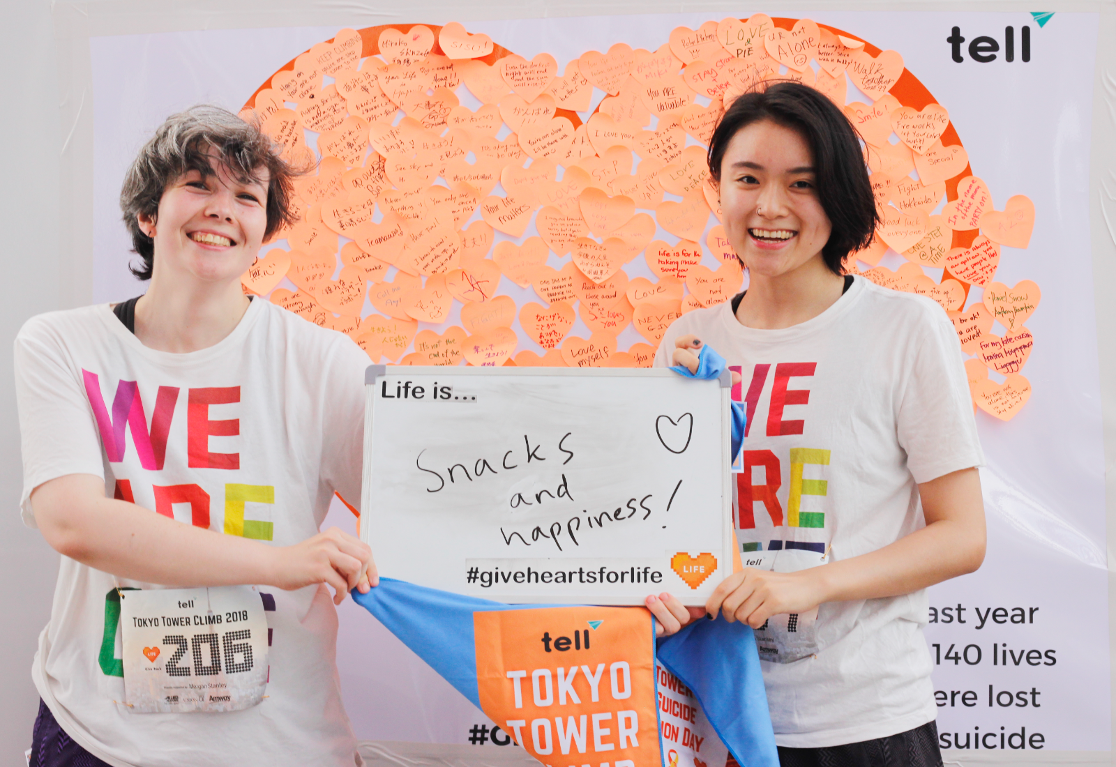 Fight Youth Suicides, Mental Health Stigma By Joining TELL's Tokyo Tower Climb 2019