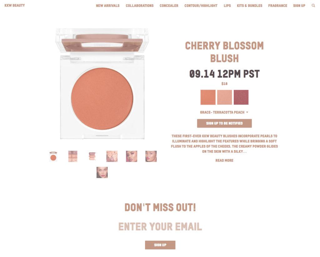 KKW Cherry Blossom
