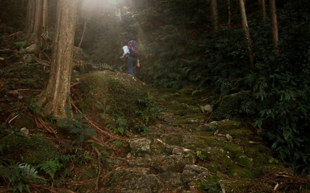 Female Solo hiking along Kumano Kodo Iseji Route Mt. Yakiyama