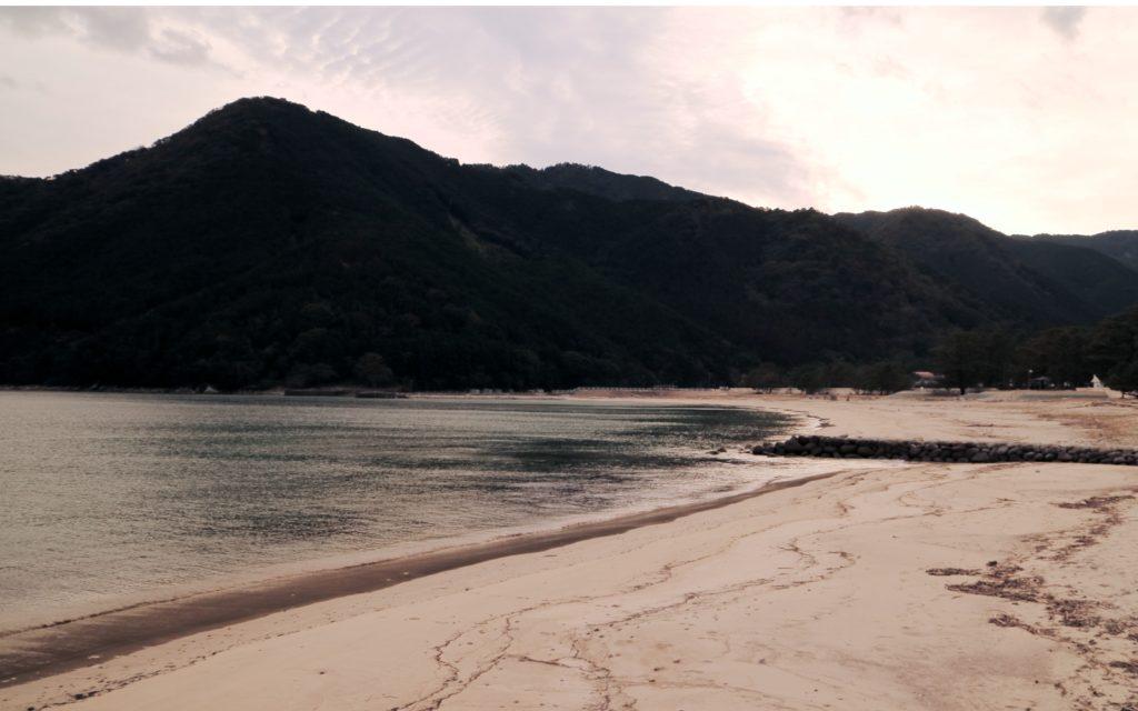 Female solo hiking along Mikisato Beach Kumano Kodo Iseji Route