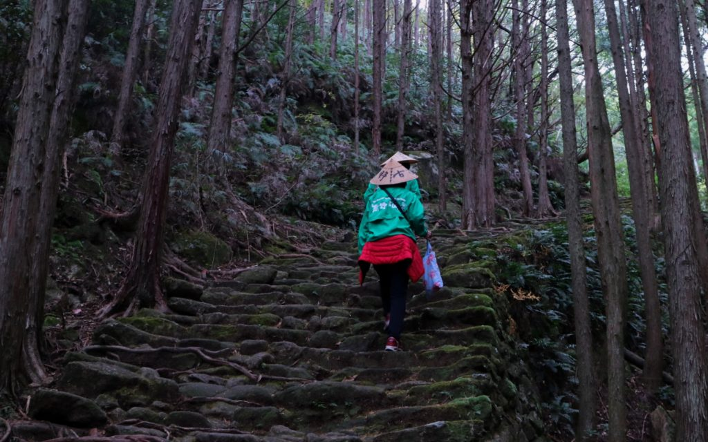 Two female guides along the Matsumoto-Toge Pass along the Kumano Kodo Iseji Route