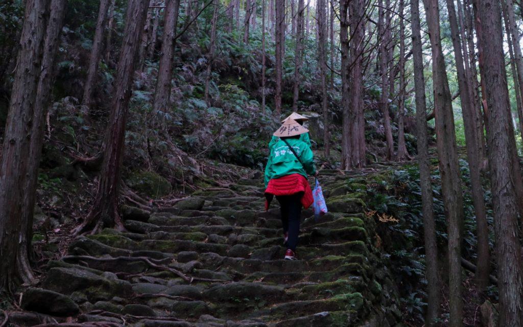 Two female guides along the Matsumoto-Toge Pass along the Kumano Kodo Iseji Route