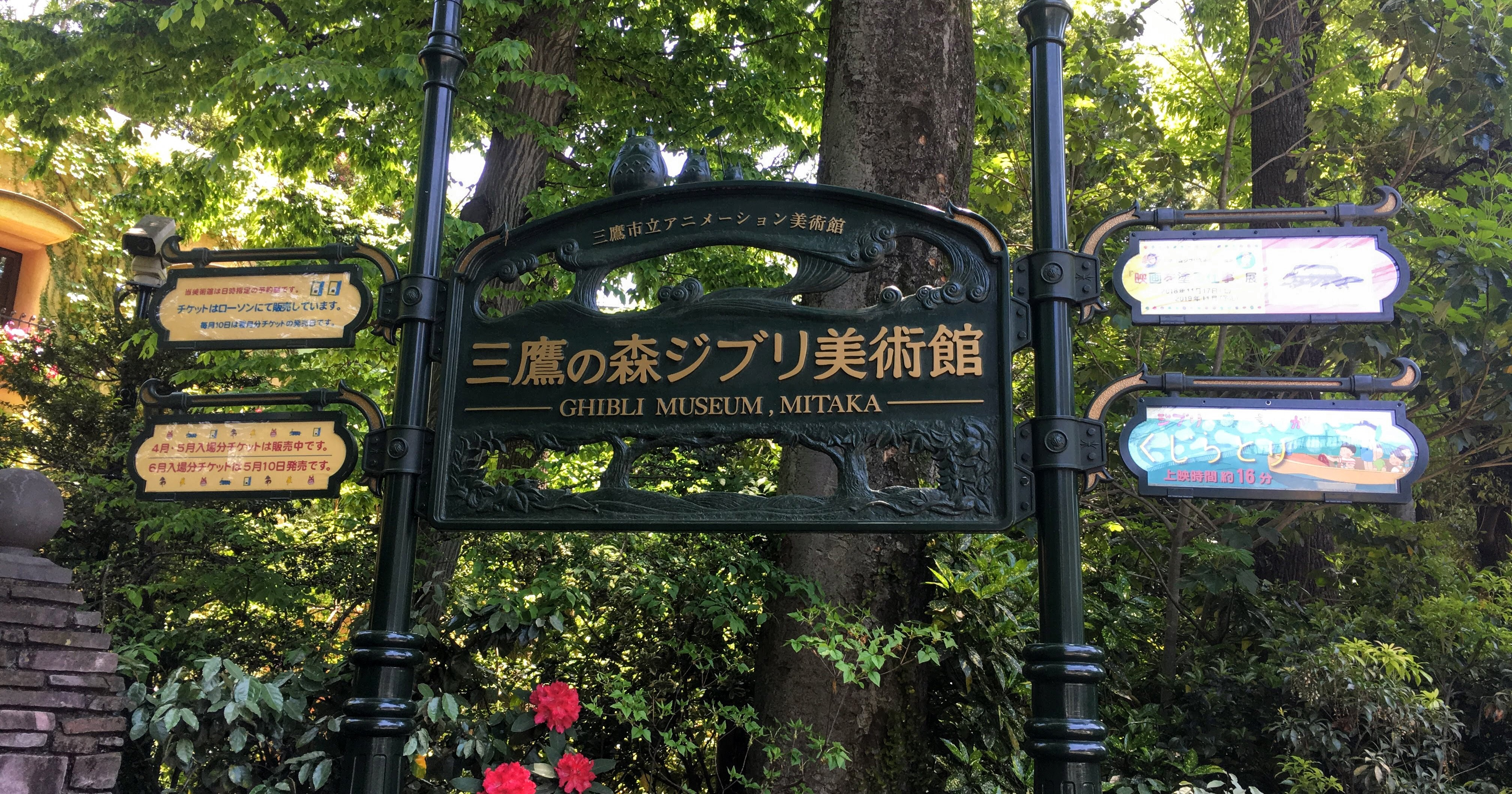 Entrance Sign - Discovering the Studio Ghibli Museum