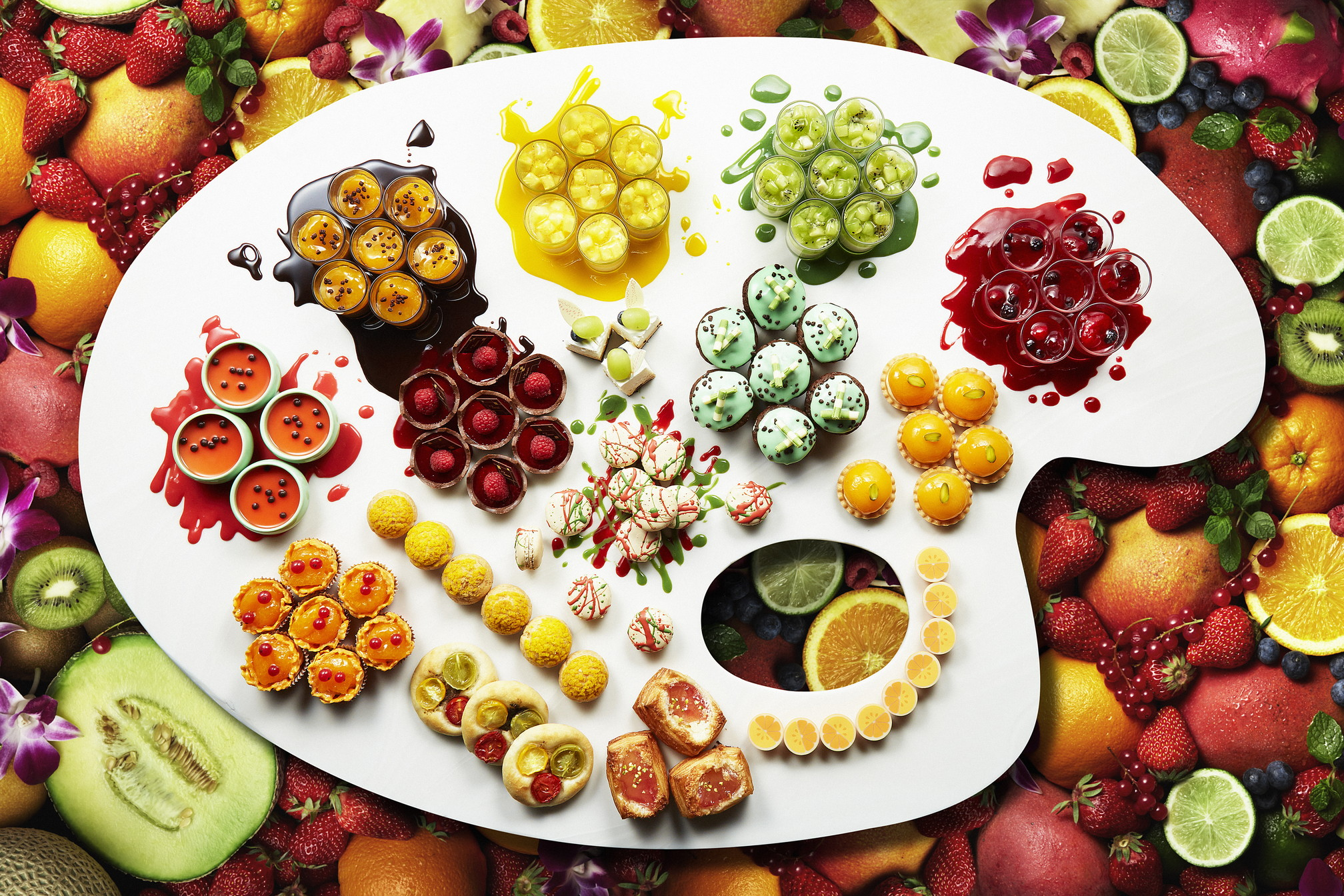 Ana Intercontinental Summer Fruits Palette Dessert Buffet