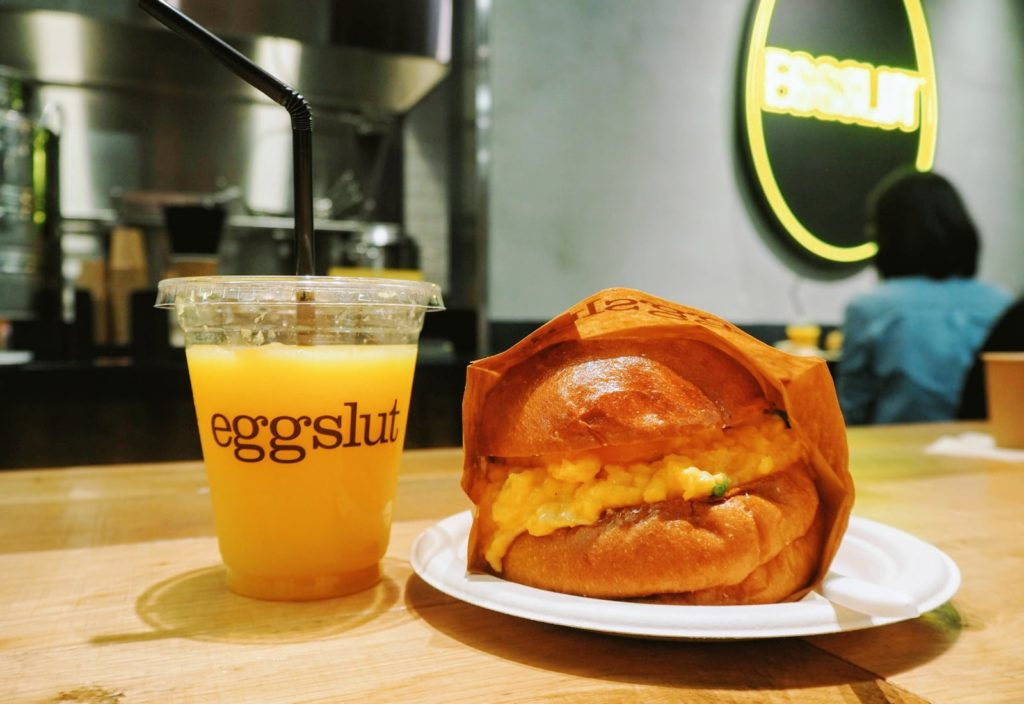 Fairfax Sandwich and OJ - Eggslut- Taking A Simple Ingredient To An Whole New Level