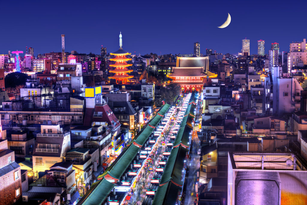 A-Guide-to-Asakusa-Nakamise-Dori-from-above-at-night