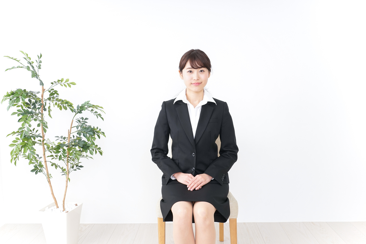 A typical attire when it comes to job hunting for women in Japan