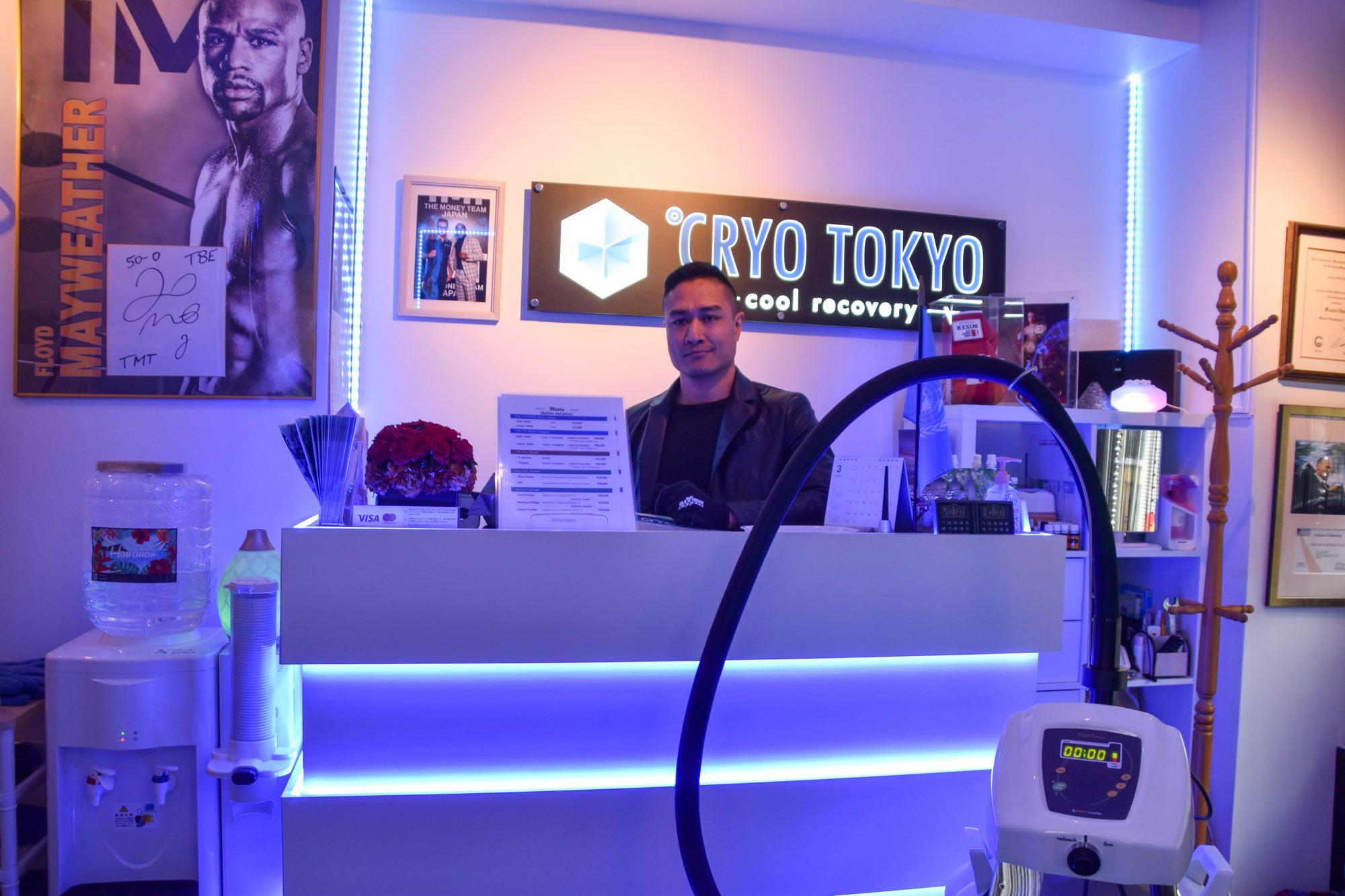 Cryo Tokyo Cool Recovery Counter at Azabu Juban