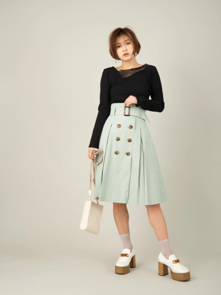 Top 5 Spring Fashion Trends In Tokyo 2020 Mint Skirt