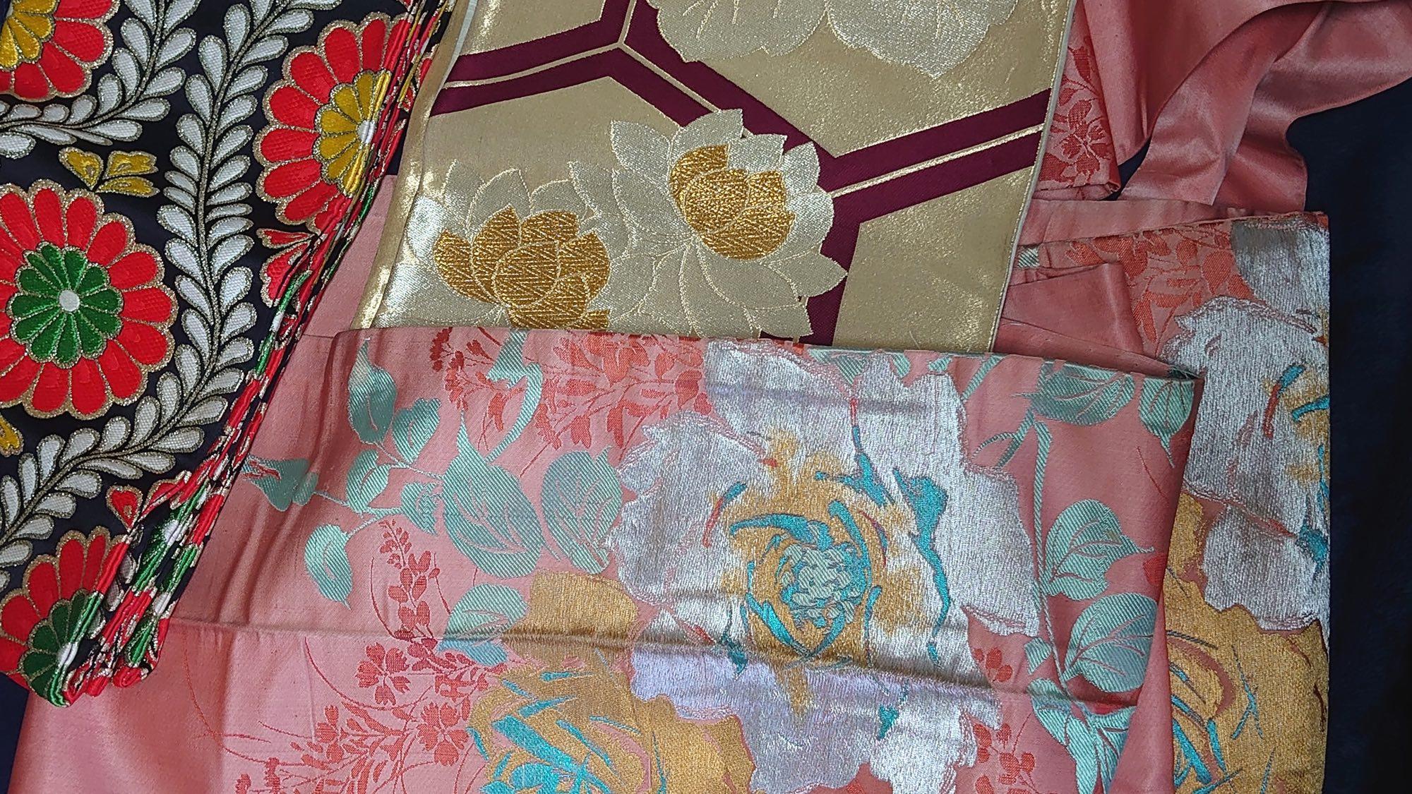Kimono Fashion With A Twist - Obi layered out