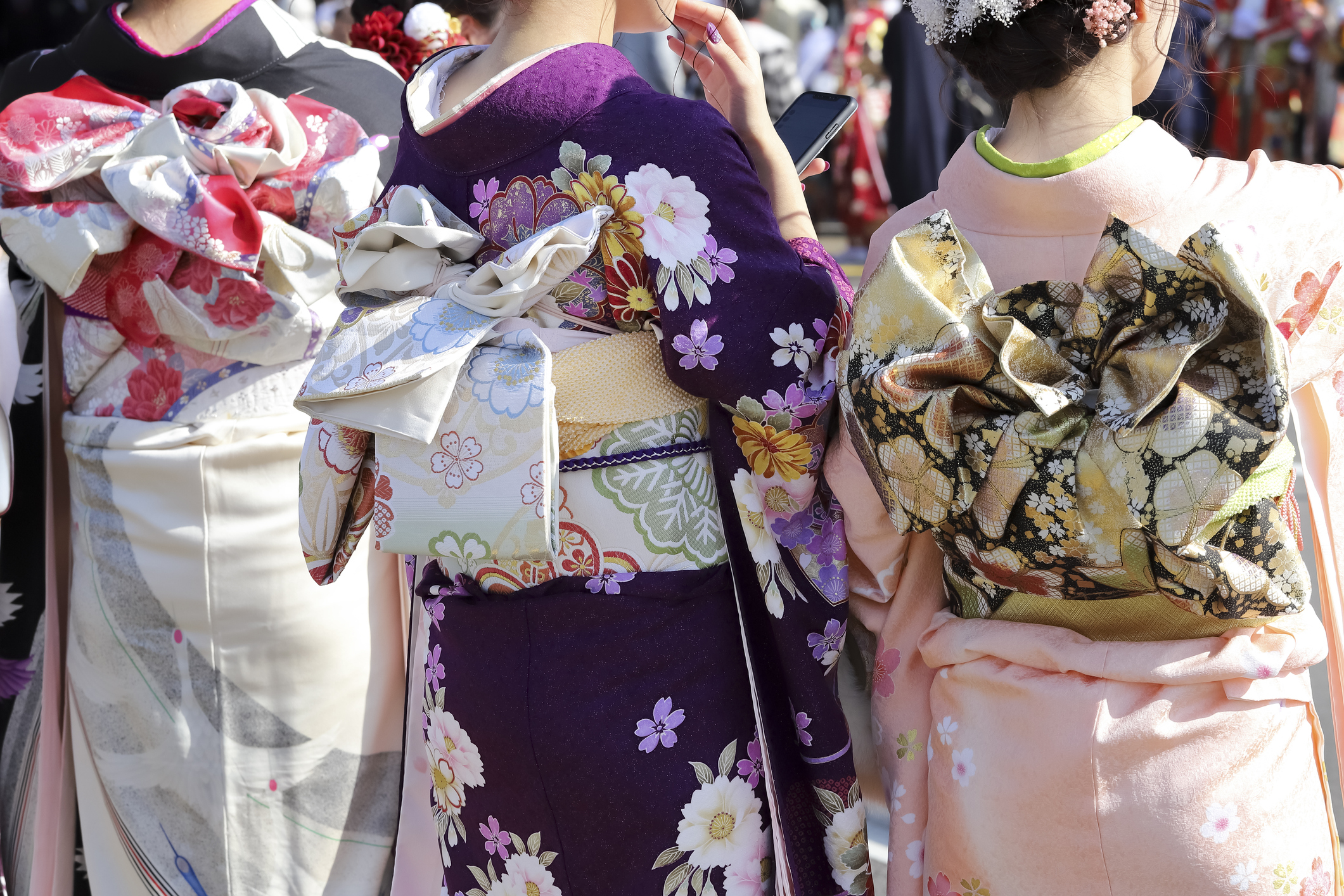 Kimono Fashion With A Twist - Close-up on obi