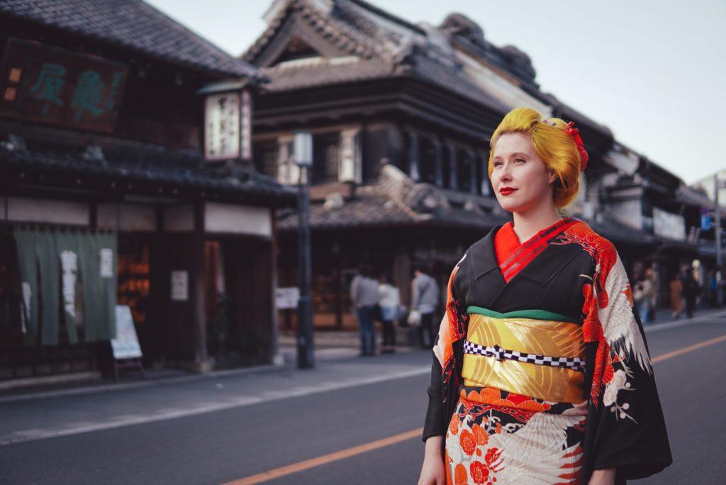 Anji SALZ kimono outfit Kawagoe