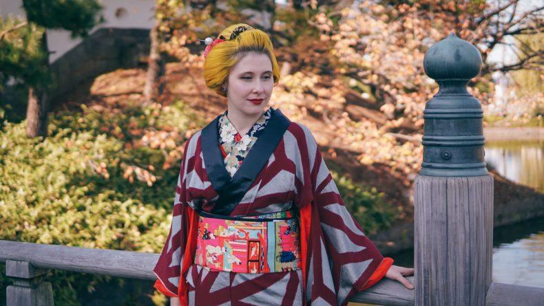 Anji Salz Kimono Outfit