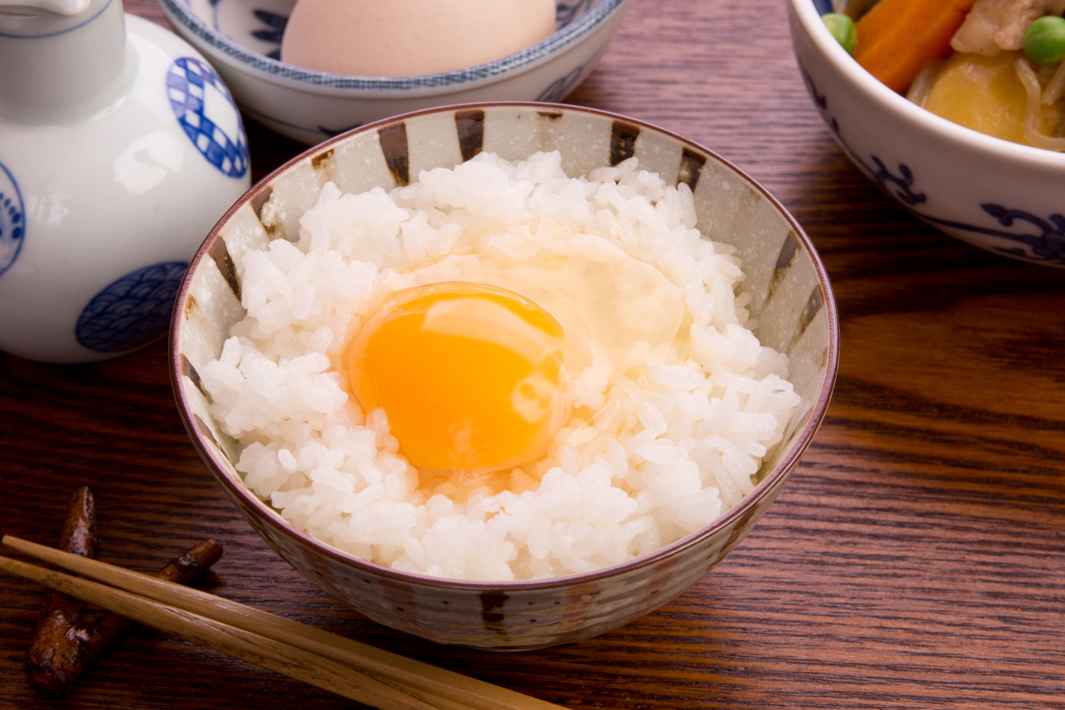 Eating Like A Local A B-Kyu Gurume - A bowl of tamago kake gohan