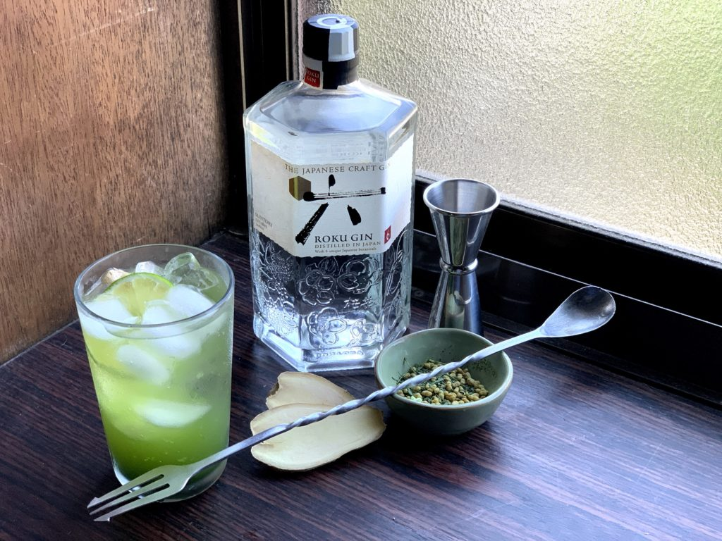 Savvy Sips- Ginger-Genmai Gin and Tonic Japanese Gin Tonic