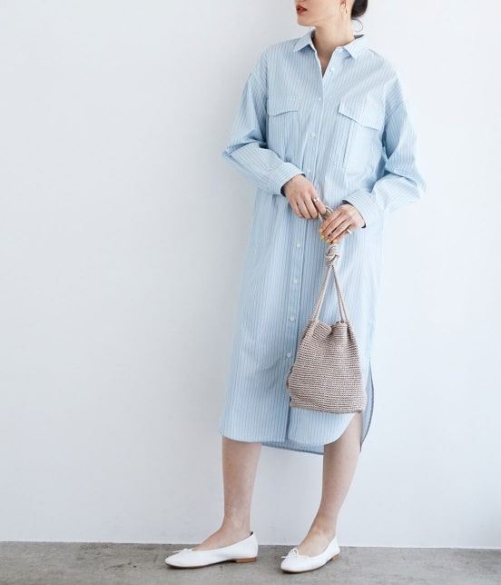 top-5-tokyo-summer-fashion-trends-2020 Blue Shirt Dress