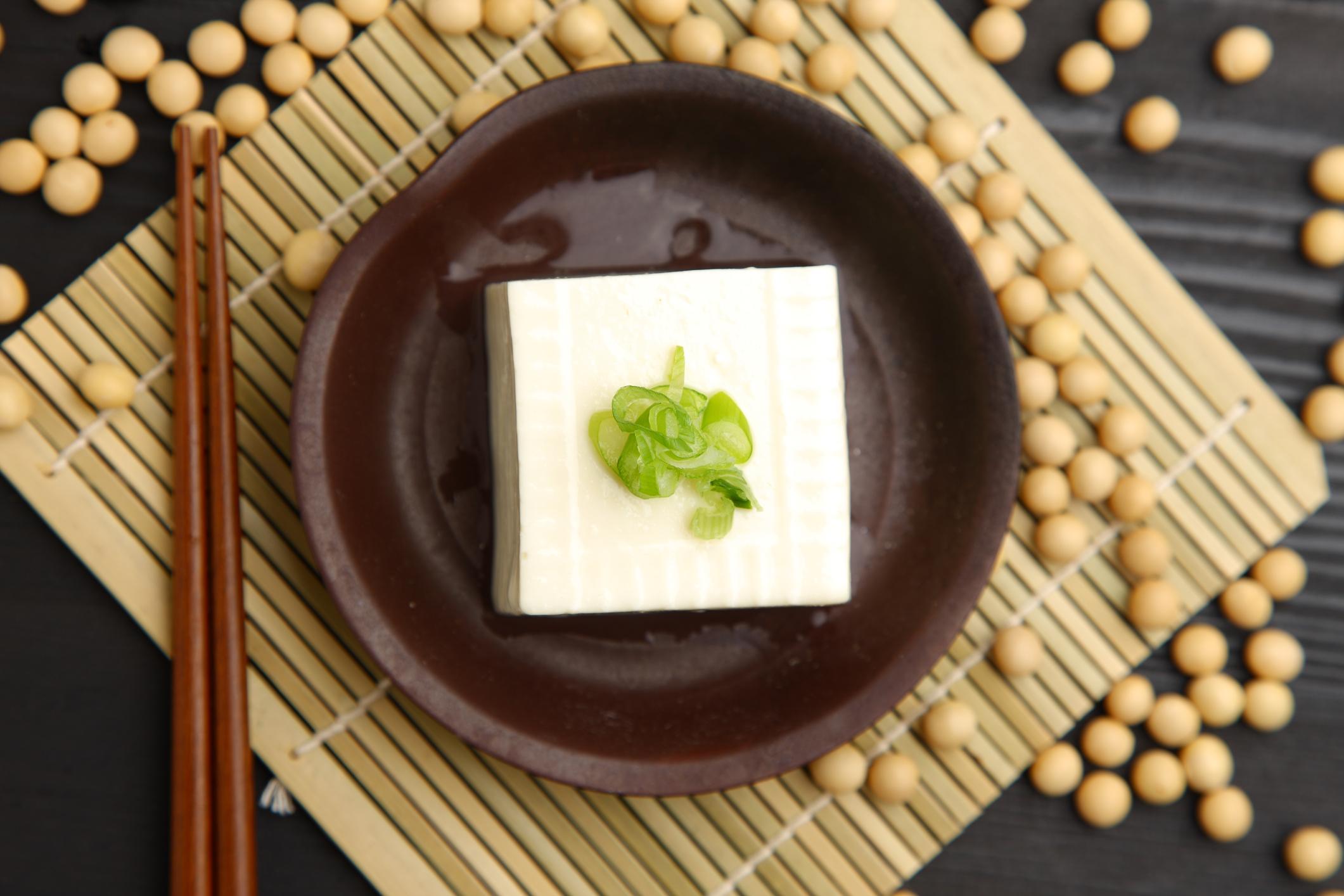 Tofu on a plate