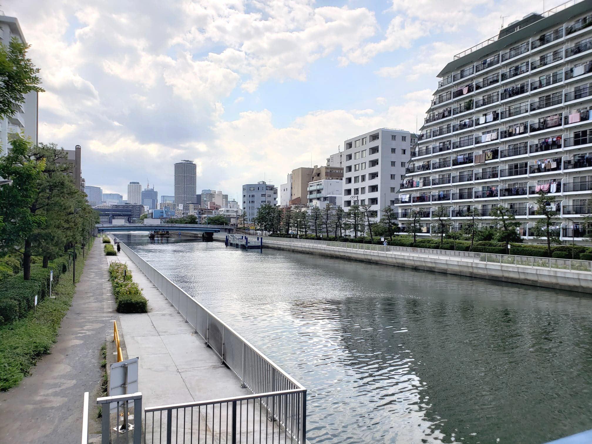 Kiyosumi-Shirakawa  River banks
