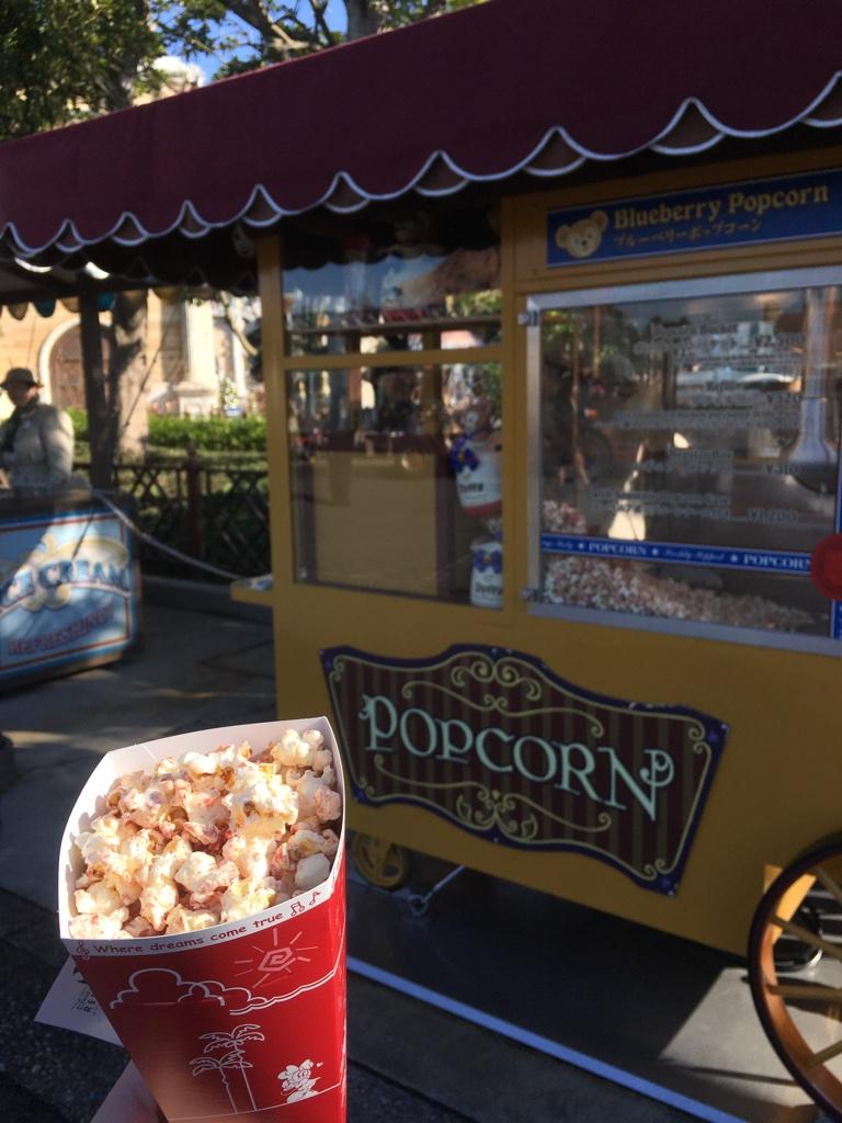 Blueberry popcorn at Tokyo DisneySea