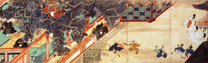 Depiction of Sugawara no Michizane's wrath