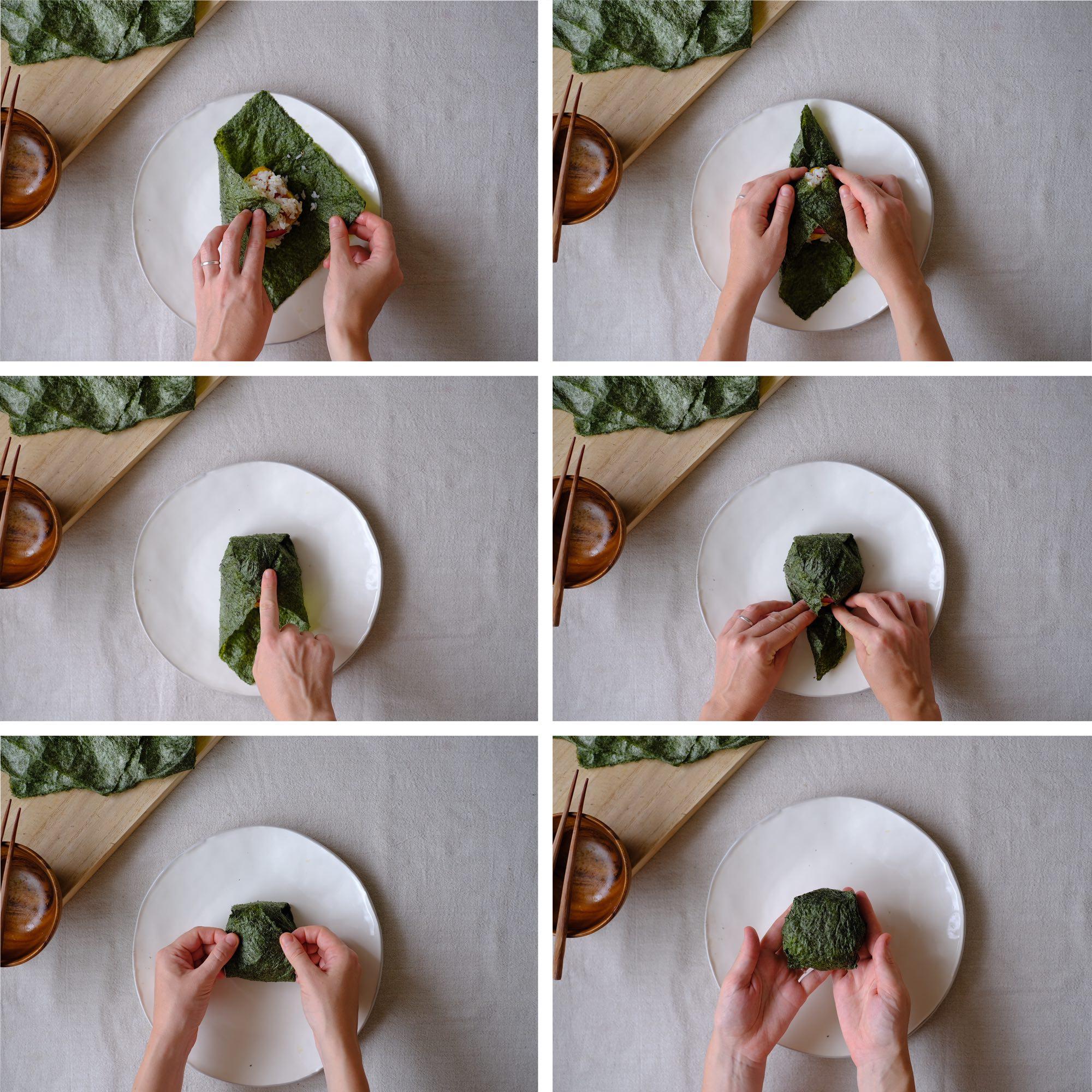 how to wrap an onigarazu