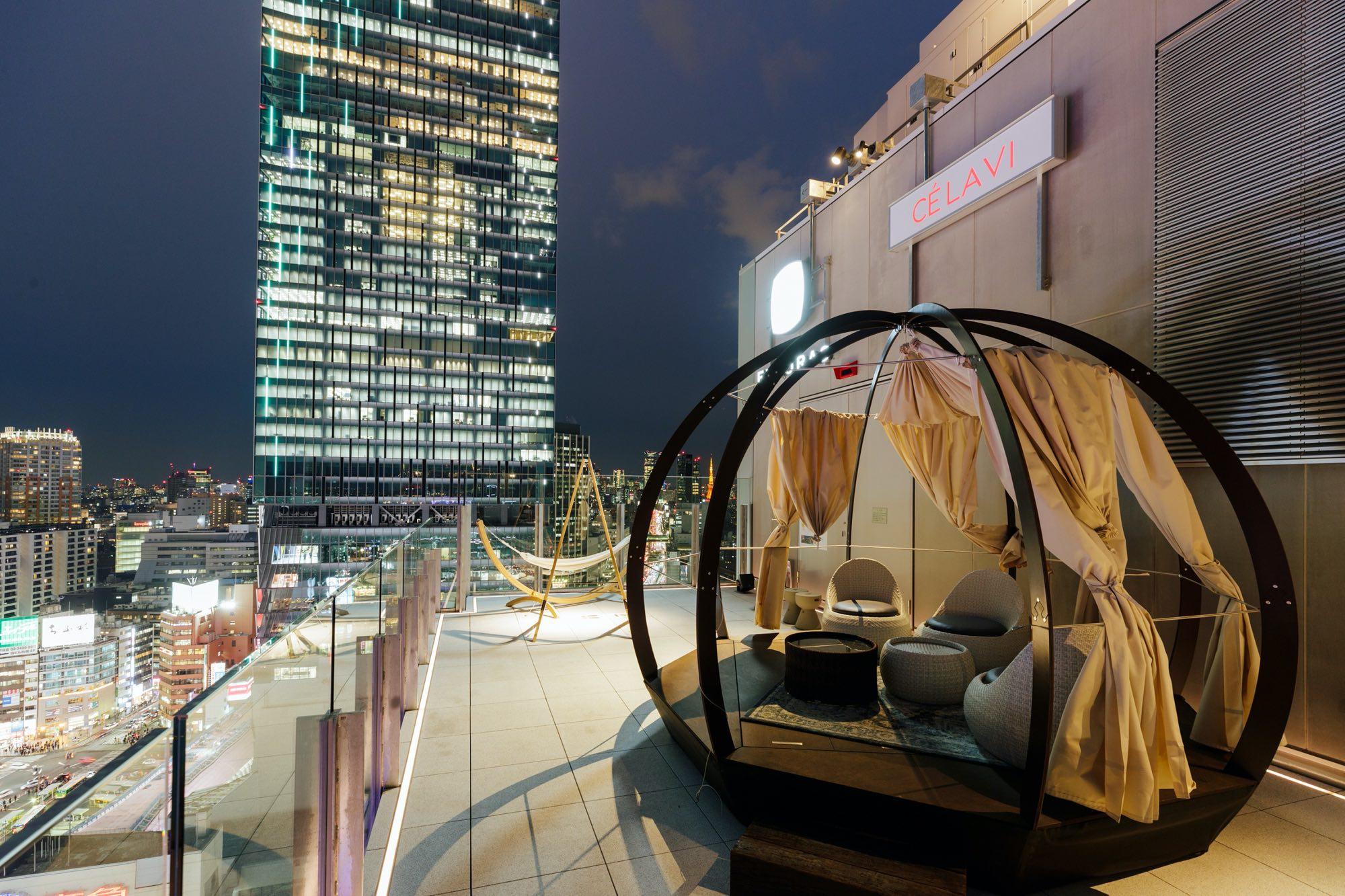 18.5F SKY MEZZANINE(night) Cé la vi Tokyo