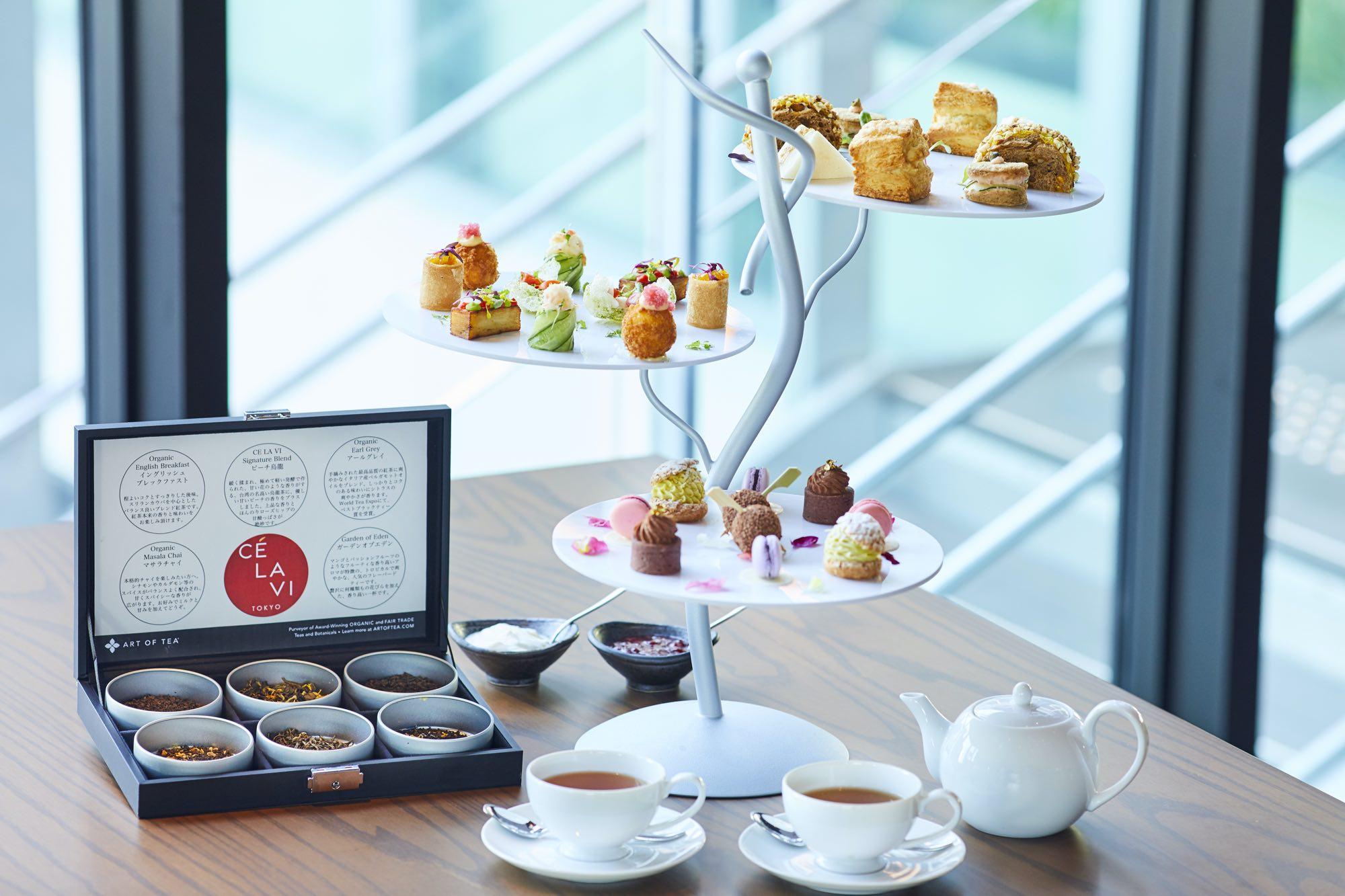 Afternoon tea at Ce La Vi Tokyo