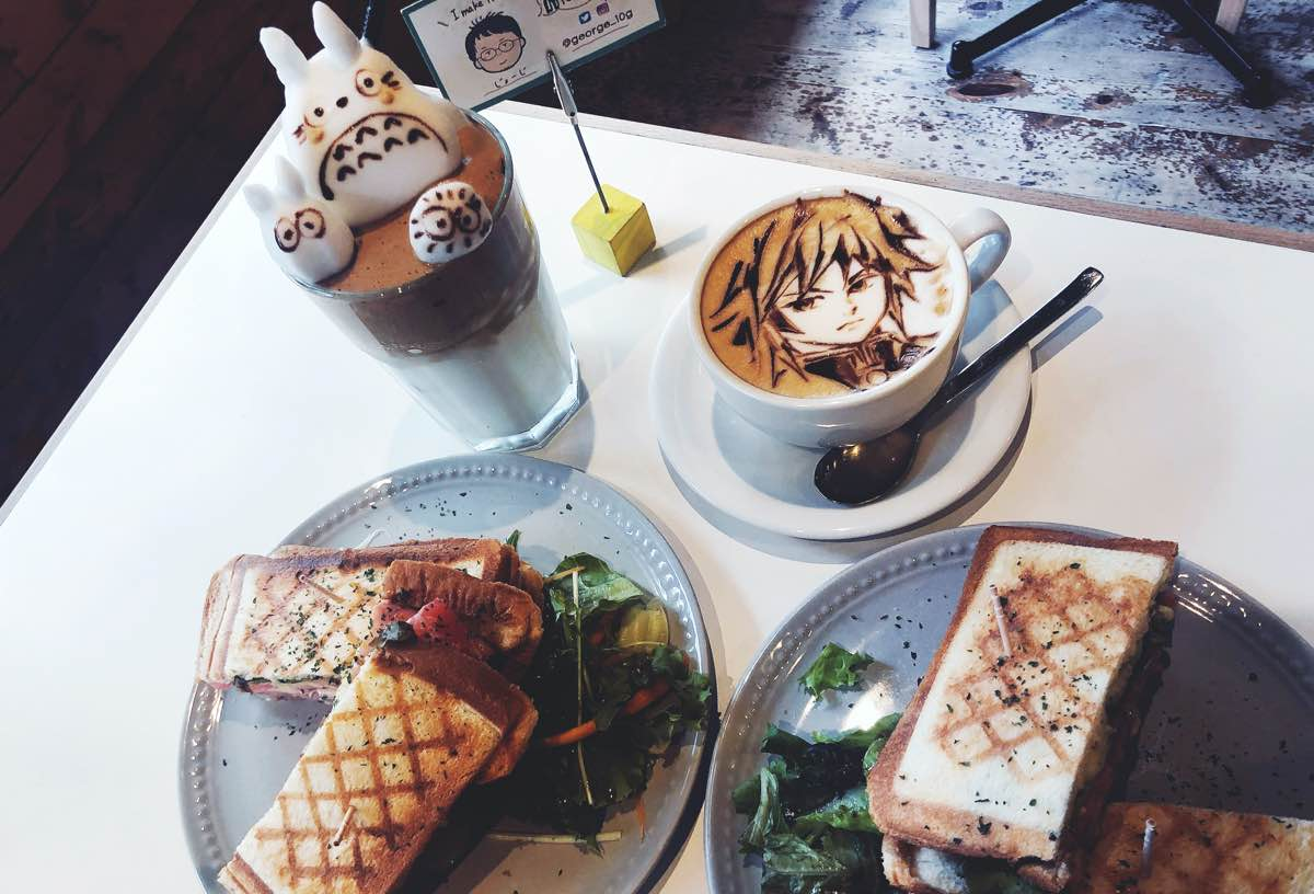 best cafés in Tokyo: reissue latter art