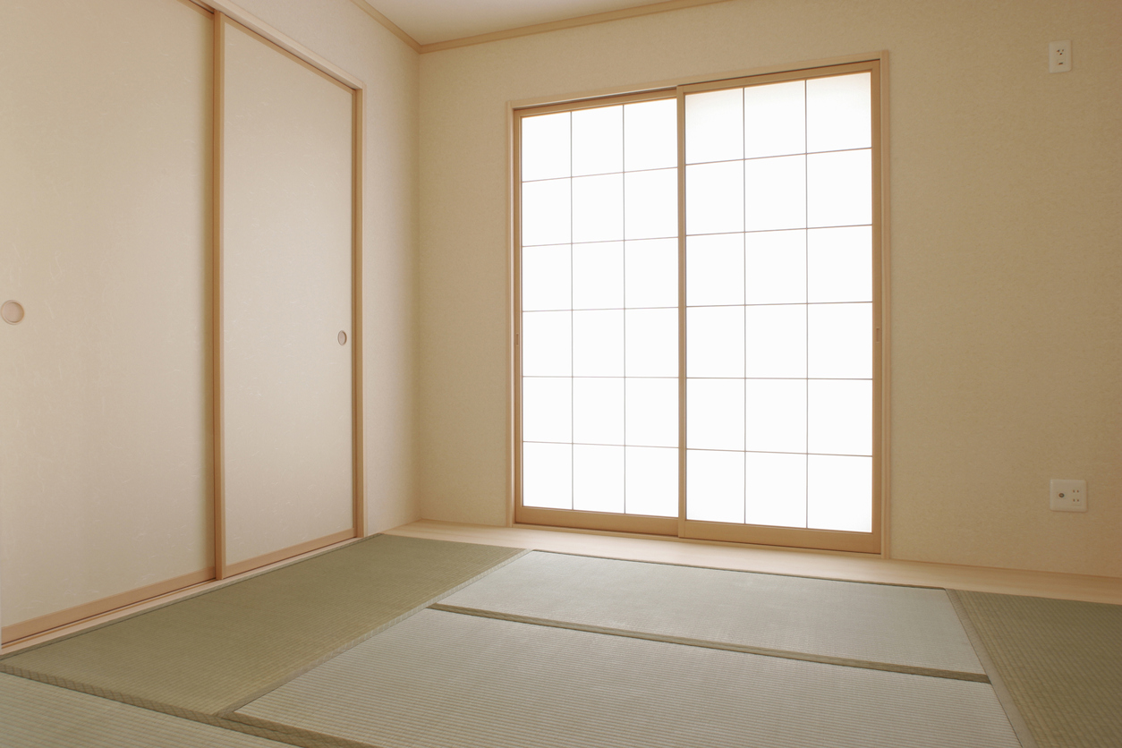 Japanese-style room with a tatami