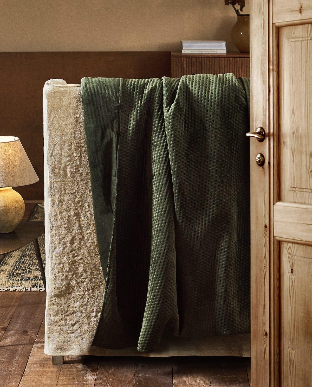 Textured Velvet Blanket I