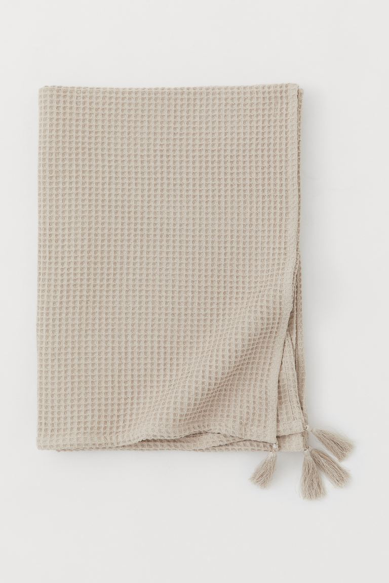 Waffled Tassled Blanket