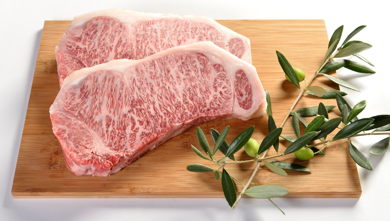 Olive-fed Wagyu beef.