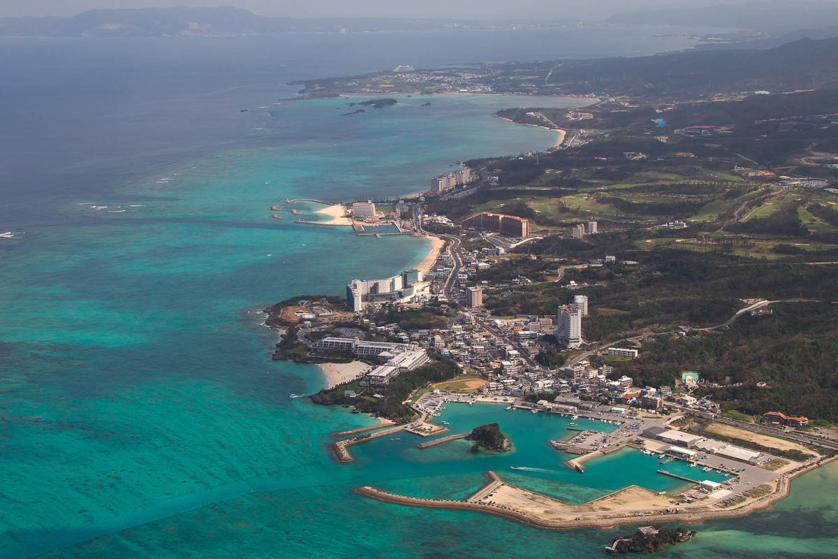 "Onna ""Coral"" Village on the west coast of Okinawa's main island."